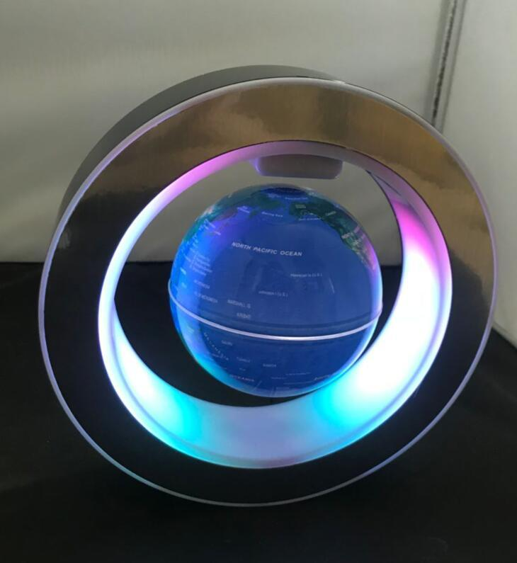 NEW magnetic floating levitate pop 4 inch globe with lighting toys gift  3