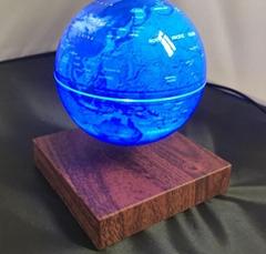 wooden base magnetic floating levitate bottom world globe 4inch 6inch gift