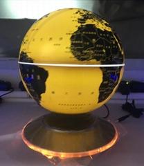 led light ufo base magnetic floating levitating world globe lighting decor gift