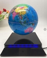 Square base magnetic floating levitate bottom 6inch globe for office gift