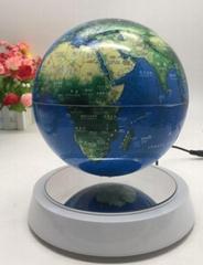 magnetic floating levitating rotating globe 6inch 7inch globe