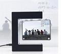 LED magnetic floating rotating photo frame 2 photos levitating gift