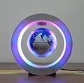 round shape magnetic levitation floating and rotating world globe with led