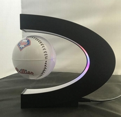 C shape magnetic floating levitate football baseball ball display racks