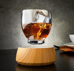 Resin magnetic levitation floating cup glass display stand