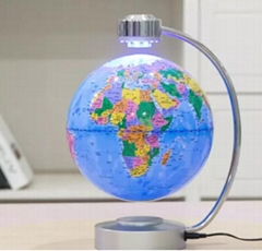 Magnetic floating levitate pop world globe lighting 6inch 8 inch
