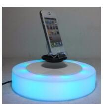 LED light magnetic floating levitate bottom cellphone shoes display racks