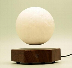 new spining maglev floating levitate bottom moon ball llamp for decor