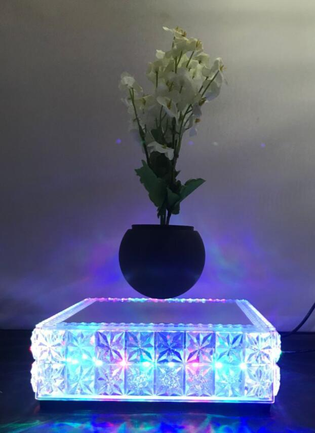 new led light maglev floating levitron air bonsai potted heavy 0-500g 4