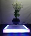 square base led light magnetic floating levitate plant potted