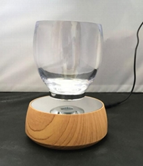 magnetic floating  levitation cup glass display stand