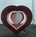 Creative gift crafts with LED Love Heart magnetic levitation floating photo fram
