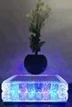 new crystal led light maglev floating levitating planter pot
