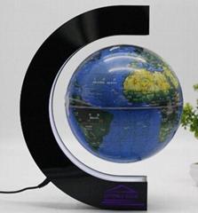 360 Degree magnetic floating world 8inch globe map for Desk Decoration