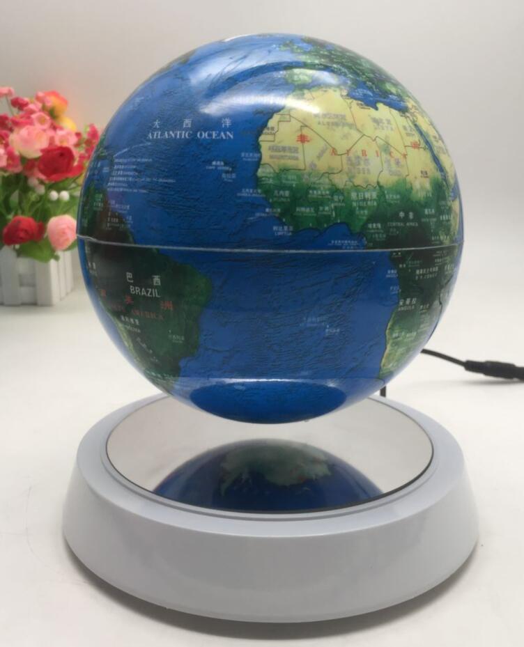 Most attractive illuminated levitation floating rotating plastic world globe 2