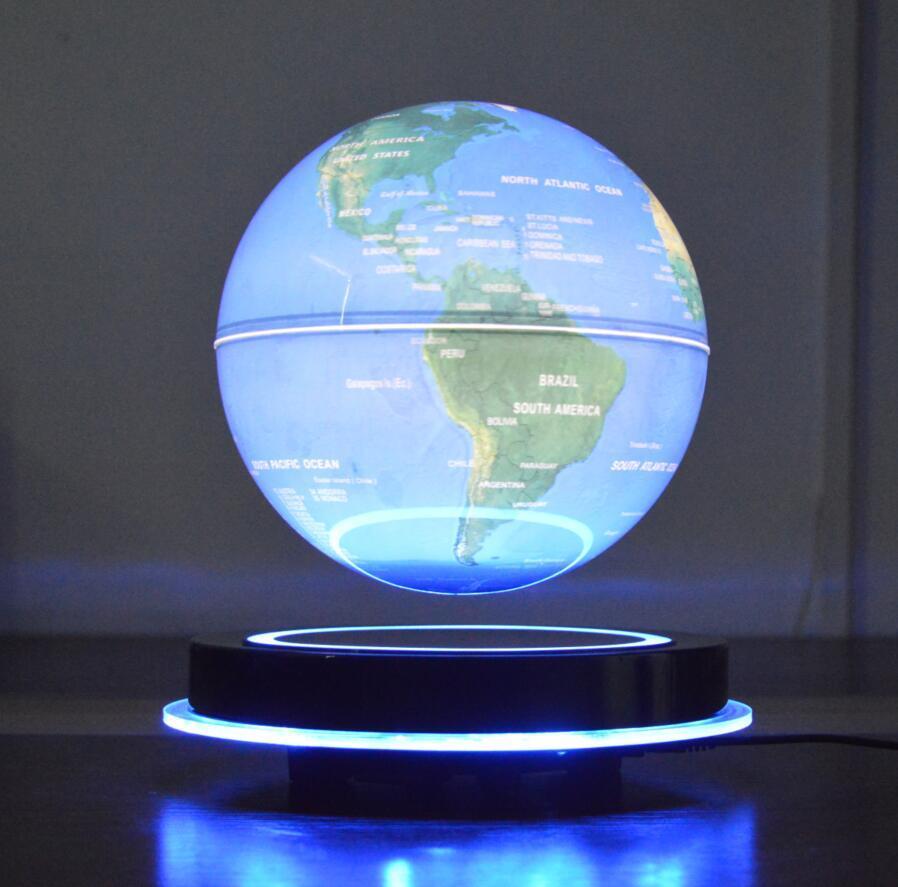 LED round base maglev floating levitate bottom 8 inch globe with lighting decor  1