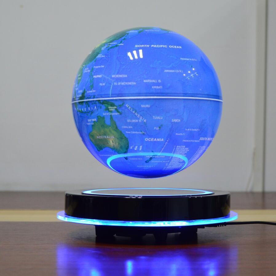 LED round base maglev floating levitate bottom 8 inch globe with lighting decor  3