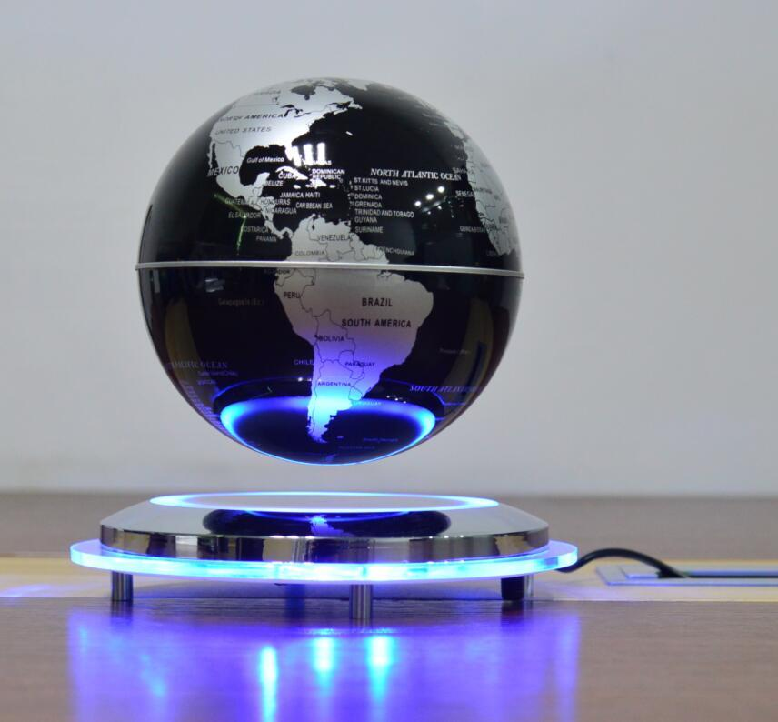 new spining maglev flying levitate air globe world earth 6inch  3