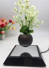 new stainless steel square maglev floating levitation air bonsai flowerpot plant