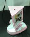 Magnetic Levitation Rotating Triangular Prism Picture photo frame display rack