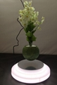 rotating colorful led ligh levitate Floating Bonsai Plant Pot