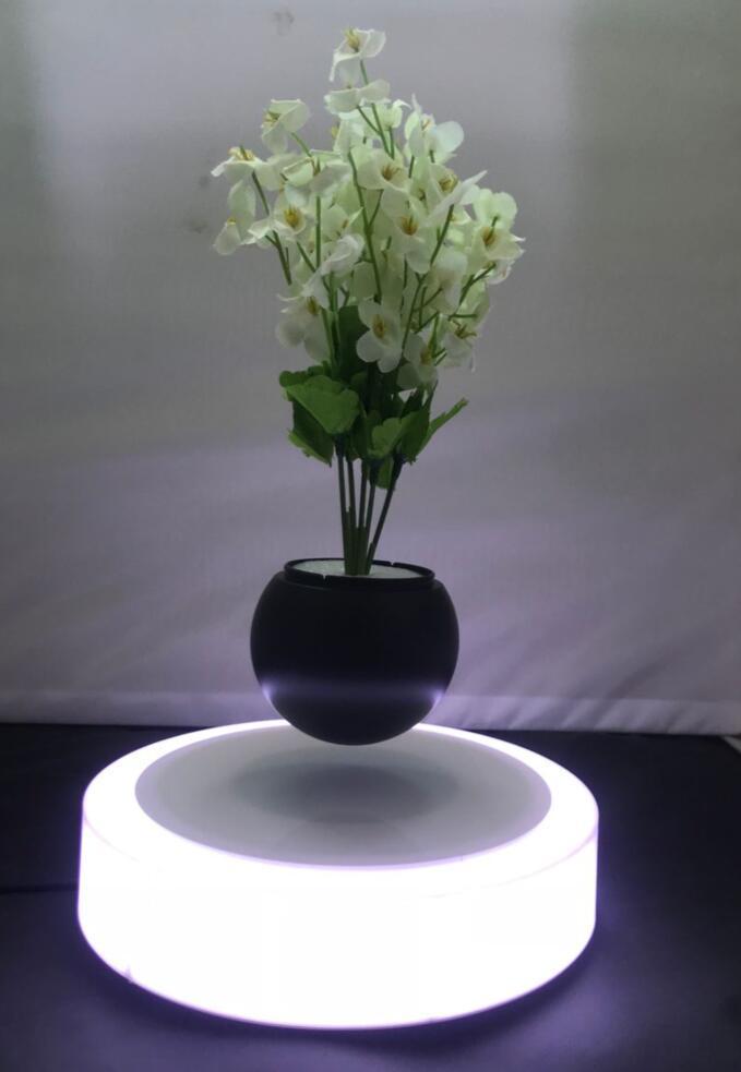 led light magnetic floating levitating air bonsai pot planter tree 0-500g 6