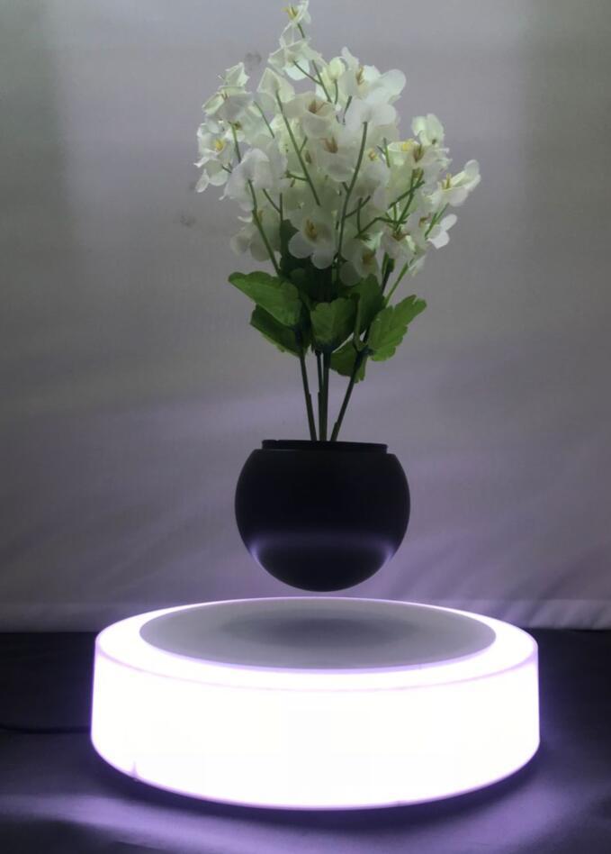 led light magnetic floating levitating air bonsai pot planter tree 0-500g 8