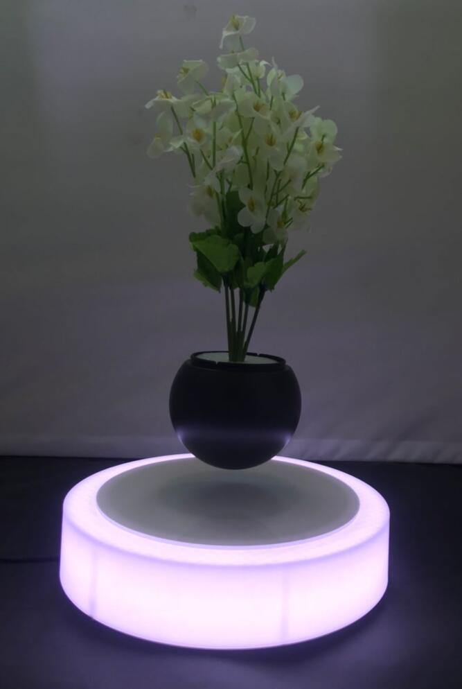 led light magnetic floating levitating air bonsai pot planter tree 0-500g 9