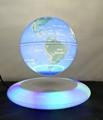 colorful led light spining Anti Gravity Levitating World Globe 8inch