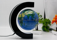 C shape magnetic floating levitate pop 8incn globe