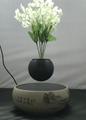 flower ceramic base  magnetic floating levitate bottom air bonsai pot