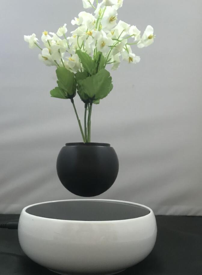 360 rotating ceramic magnetic floating levitate air bonsai pot  2