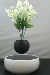 360 rotating ceramic magnetic floating levitate air bonsai pot