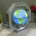 led light octagon led light magnetic floating levitate globe glove 6inch gift
