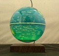 magnetic levitation loating bottom 6inch globe with lighting change