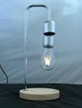 wooden base magnetic floating levitation led bulb lamp lighting