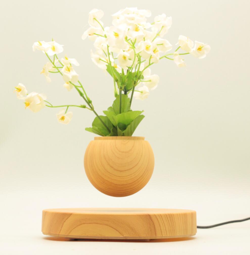 new rotating magnetic floating levitating flying air bonsai tree pot  2