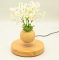 new rotating magnetic floating levitating flying air bonsai tree pot  3