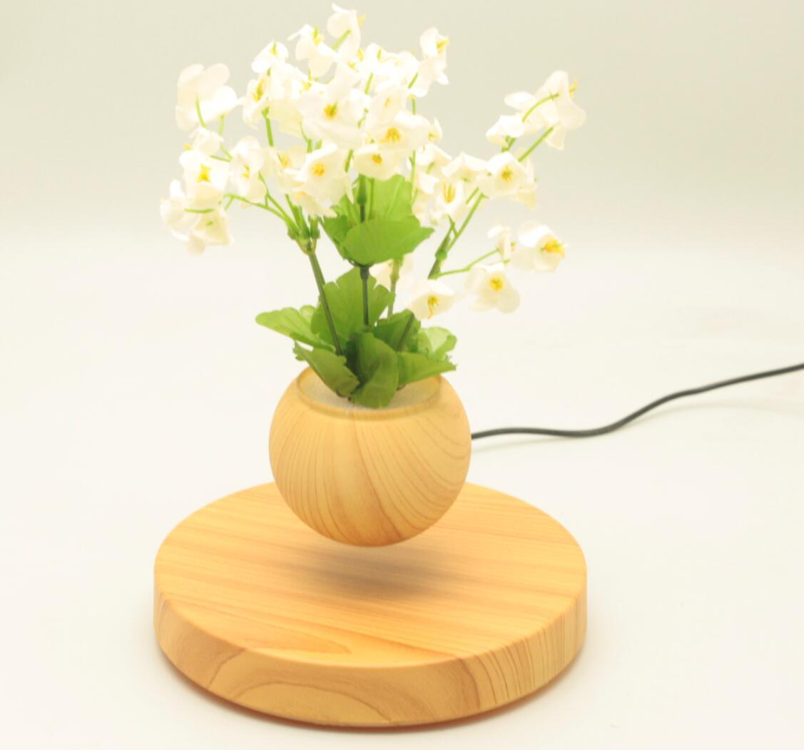 new rotating magnetic floating levitating flying air bonsai tree pot  4