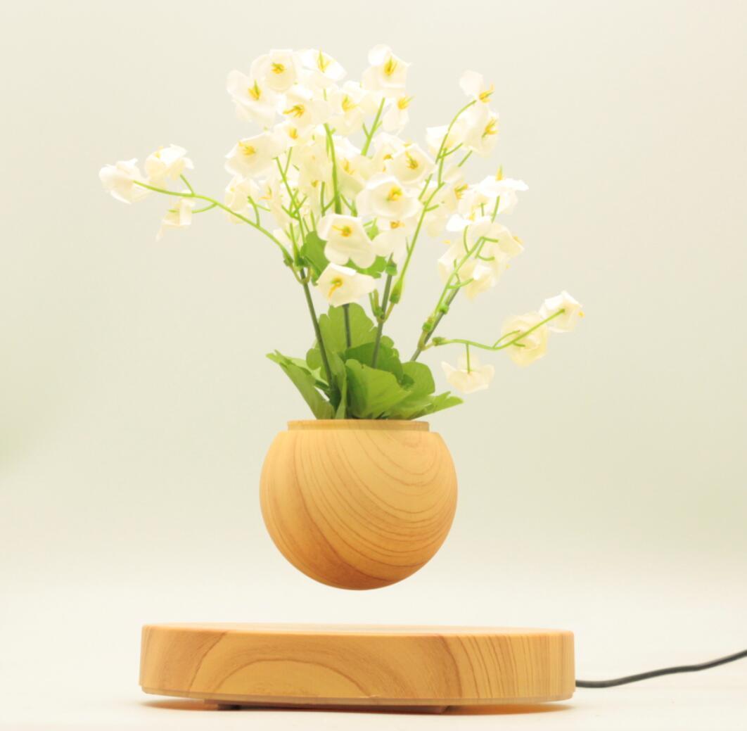 new rotating magnetic floating levitating flying air bonsai tree pot  5