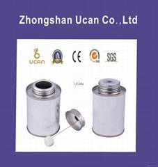 Screw top glue tins pvc tin cpvc tin round cans with dauber brush