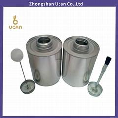 UPVC/CPVC glue tin can screw top cans Tire repair adhesive tin can with dauber