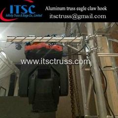 Aluminum stage lighting eagle claw hook