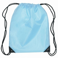 Nylon drawstring swim backpack pouch