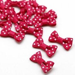 Small dots ribbon cheap hair bows