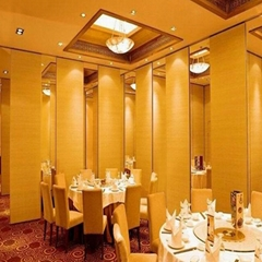 Hotel sound proof sliding movable partition walls