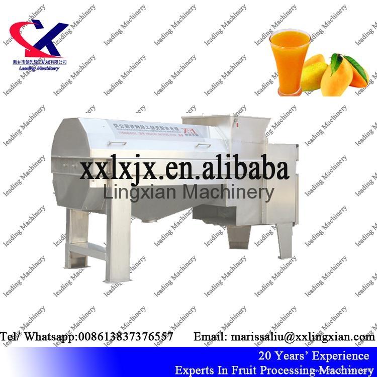 Large Capacity Mango Pulper Machine to remove peel and pit 4