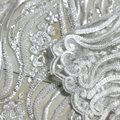 Factory direct white wedding decoration and textured wedding dress fabric 1