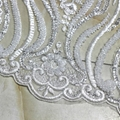 Factory direct white wedding decoration and textured wedding dress fabric 4