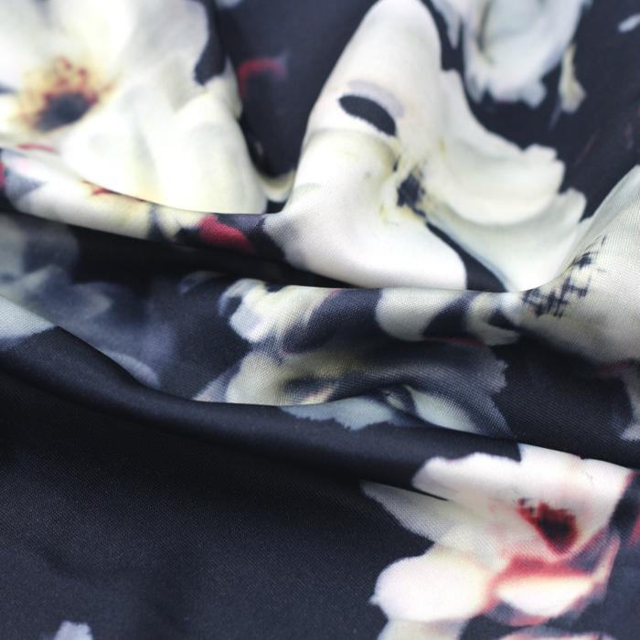 Polyester Digital Print Upholstery and hometextile Fabric for dress 4